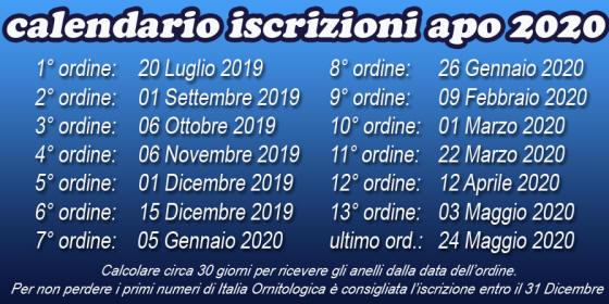 Calendario Fiere Ornitologiche 2020.Apo Pesaro